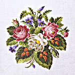 Click for more details of Antique Roses and Red Leaves (cross stitch) by Permin of Copenhagen