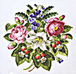 Click for more details of Antique Roses and Strawberries (cross stitch) by Permin of Copenhagen