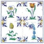 Antique Tiles - Flowers