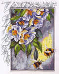Click for more details of Apple Blossom and Bees (cross stitch) by Permin of Copenhagen