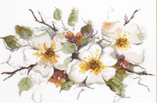 Click for more details of Apple Blossom (cross-stitch kit) by Lanarte