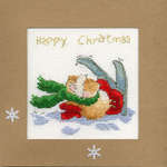 Click for more details of Apres Ski Christmas Card (cross stitch) by Bothy Threads