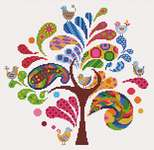 Click for more details of Arbre Ludique ( Funky Tree) (cross stitch) by Princesse