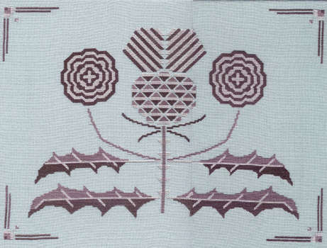 Click for more details of Art Deco Thistle (cross stitch) by Anne Peden