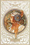 Click for more details of Art Nouveau by Mucha - Blond (cross-stitch kit) by Lanarte