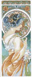 Click for more details of Art Nouveau by Mucha - Primrose (cross-stitch kit) by Lanarte