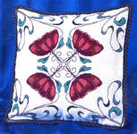 Click for more details of Art Nouveau Flower Cushion (cross stitch) by Barbara Thompson