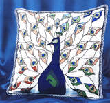 Art Nouveau Peacock Cushion