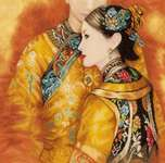 Click for more details of Asian Couple (cross-stitch kit) by Lanarte