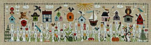Click for more details of Au Fil Des Nichoirs (Nesting Boxes) (cross stitch) by Jardin Prive