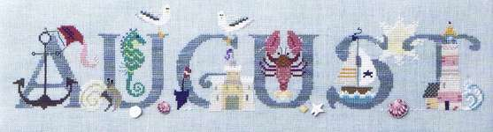 Click for more details of August (cross-stitch pattern) by The Cross-Eyed Cricket