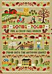 Click for more details of Autumn Band Sampler (cross stitch) by Tiny Modernist