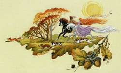 Click for more details of Autumn Fox Hunt (cross stitch) by Golden Hands