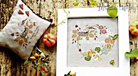 Click for more details of Autumn Garland (cross stitch) by Madame Chantilly