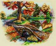 Click for more details of Autumn Landscape (cross stitch) by Merejka