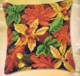 Click for more details of Autumn Leaves Cushion Front (tapestry) by Vervaco