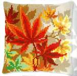 Click for more details of Autumn Leaves Cushion (tapestry) by Vervaco