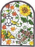 Click for more details of Autumn Stained Glass Window (cross stitch) by Imaginating