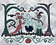 Click for more details of Autumn Witches (cross stitch) by bendystitchy