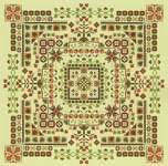 Click for more details of Autumn Woodland Garden Labyrinth (cross stitch) by Carolyn Manning