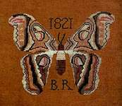 Click for more details of B.R.'s Moth (cross stitch) by Kathy Barrick