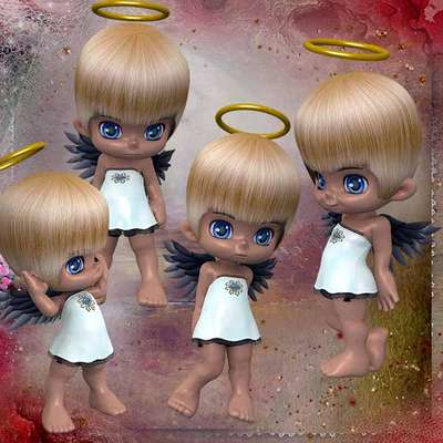 Click for more details of Baby Angels (digital downloads) by DawnsDesigns