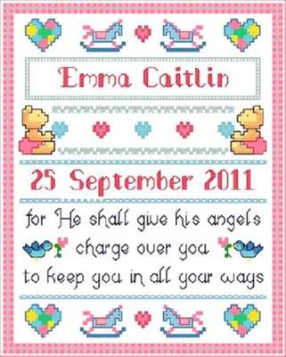 Click for more details of Baby Blessing (cross-stitch pattern) by Designs by Cathy