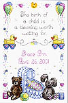 Click for more details of Baby Blessing (cross stitch) by Imaginating