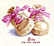 Click for more details of Baby Boots Birth Sampler (cross stitch) by Vervaco