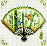 Click for more details of Bamboo Fan (no-count cross stitch) by Needleart World