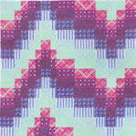 Click for more details of Bargello Wave (cross stitch) by Barbara Thompson