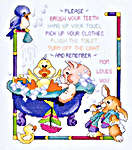 Click for more details of Bath Time Rules (cross stitch) by Stoney Creek