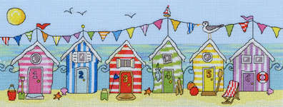 Click for more details of Beach Hut Fun (cross stitch) by Bothy Threads