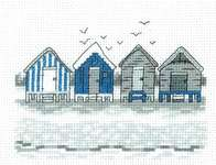 Click for more details of Beach Huts (cross stitch) by Permin of Copenhagen