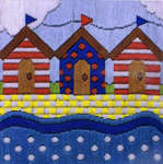 Click for more details of Beach Huts (long-stitch kit) by Anchor