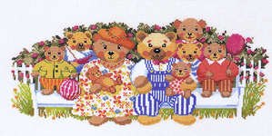 Click for more details of Bear Family  (cross-stitch kit) by Eva Rosenstand