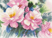Click for more details of Beautiful Roses (cross-stitch kit) by Lanarte