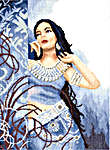 Click for more details of Beauty in Blue (cross-stitch kit) by Lanarte