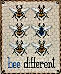 Click for more details of Bee Different (cross stitch) by The Blackberry Rabbit