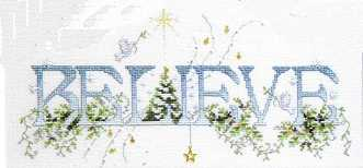 Click for more details of Believe (cross stitch) by Stoney Creek