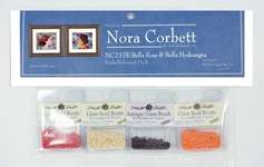 Click for more details of Bella Rosa and Bella Hydrangea Embellishment Pack (beads and treasures) by Nora Corbett