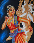 Click for more details of Bharata Natyam-Dance of the Gods- a fusion of artistic styles  (oil on canvas) by ragunath