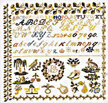 Biedermeier 1827 Sampler