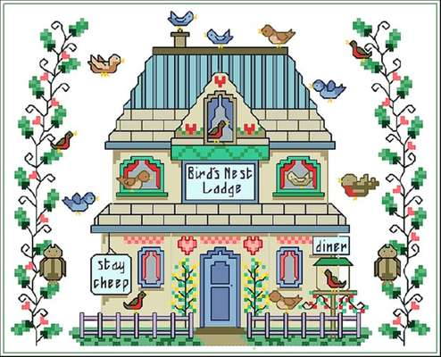 Click for more details of Bird's Lodge (cross stitch) by Designs by Cathy