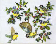 Click for more details of Birds and Holly (cross stitch) by Eva Rosenstand