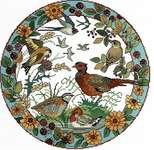 Click for more details of Birds in Autumn (cross stitch) by Lesley Teare