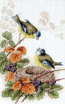 Click for more details of Birds in Nest (cross stitch) by Luca - S