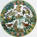 Click for more details of Birds in Spring (cross stitch) by Lesley Teare