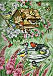 Click for more details of Birds in the Garden (cross stitch) by Permin of Copenhagen