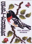 Click for more details of Birds of the Month - September - Rose-Breasted Grosbeak (cross stitch) by Stoney Creek